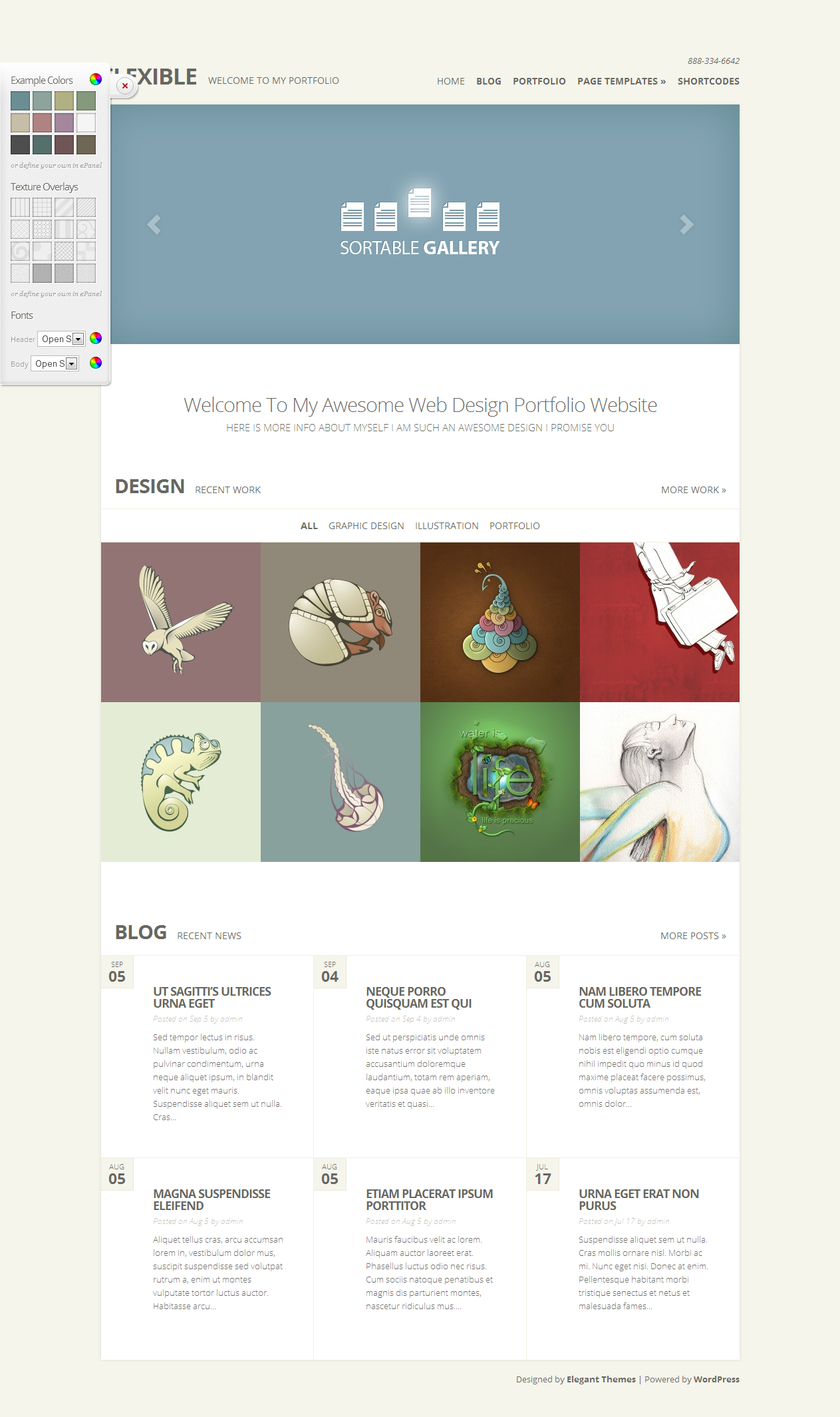 Wordpress Themes - 80 Elegant Themes for you to choose from